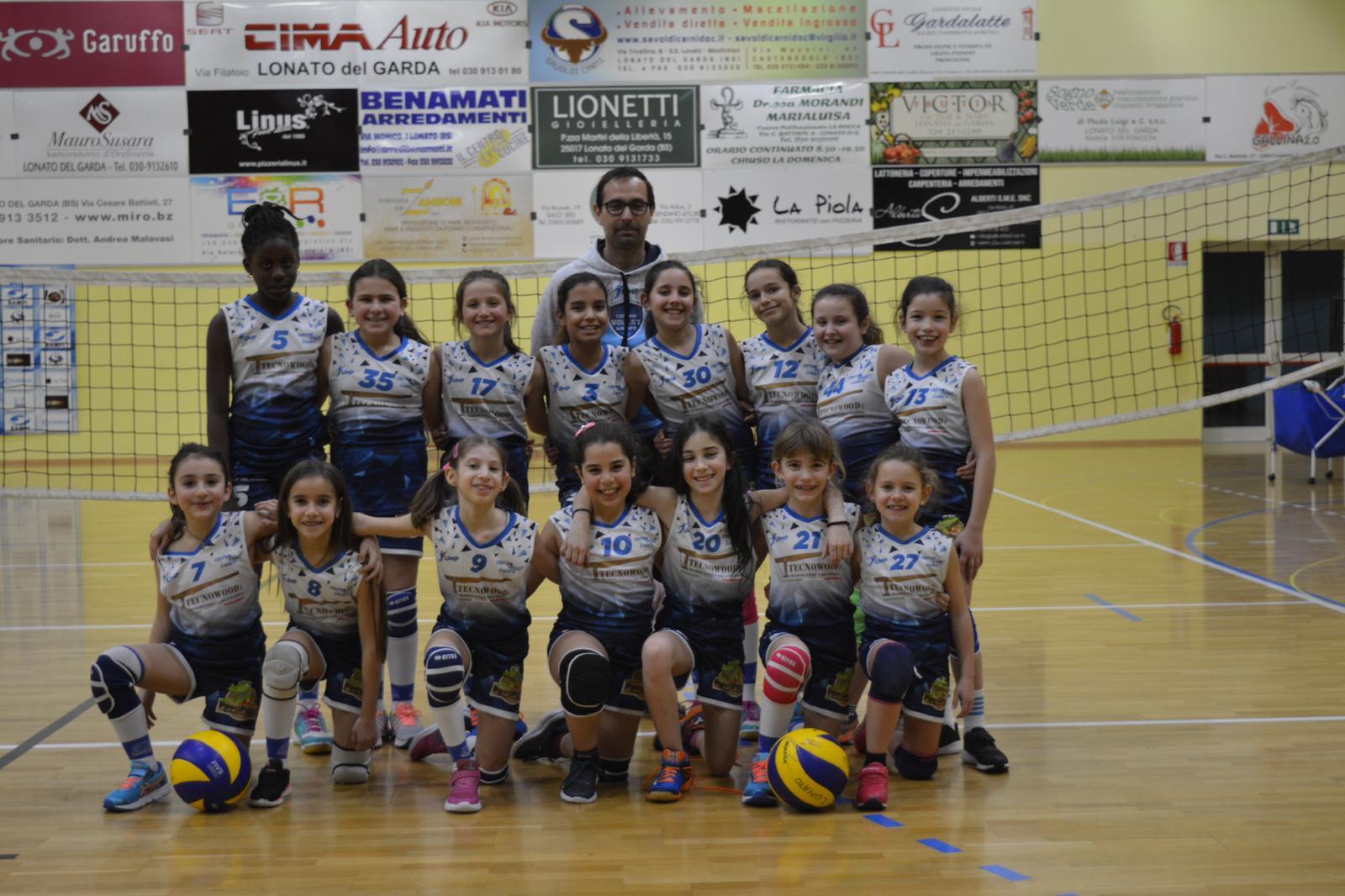 Tecnowood legno, sponsor under 12 volley Lonato