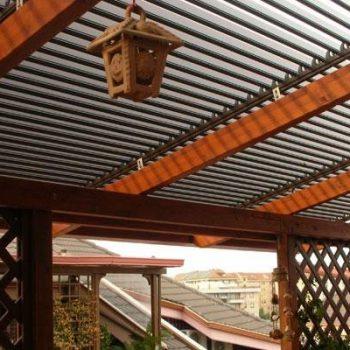 Tecnowood Brescia, tettoia in legno lamellare