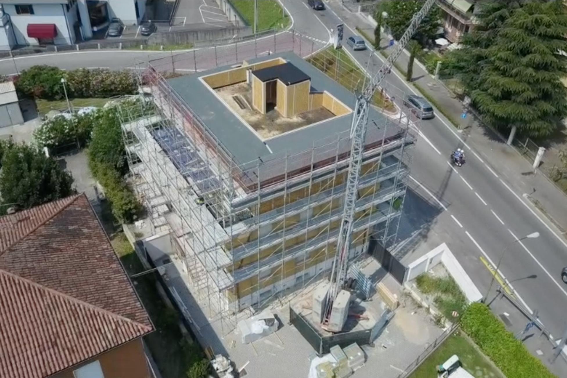 Tecnowood Brescia, sopraelevazione in legno