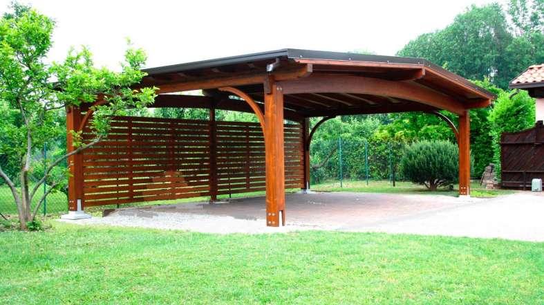 Tecnowood Brescia, gazebo in legno per il giardino