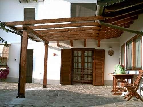 Tecnowood Brescia, pergolato in legno lamellare